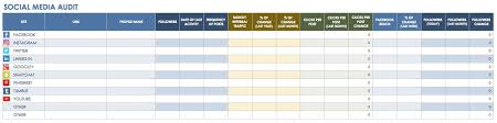 12 free social media templates smartsheet