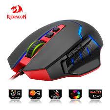 souris bureau redragon usb gaming souris 14400 dpi 9 boutons design ergonomique