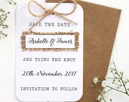 save the date invitations burlap save the date etsy