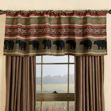 Cabin Style Curtains Yukon River Moose Valance Clearance Cabin Pinterest