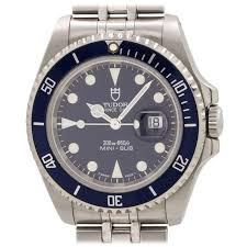 tudor stainless steel mini sub ref 73190 circa 1998 at 1stdibs