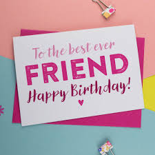 birthday card for best friends bff best friend birthday card in pink and blue by a is for alphabet