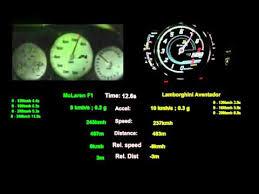 lamborghini aventador acceleration mclaren f1 vs lambo aventador acceleration comparison from 100kmh