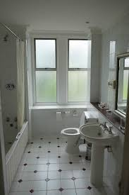 Spa Bathrooms Harrogate - wired glass in the bathroom and no bath mat picture of the