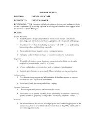 events manager job description event production manager job