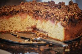 rhubarb coffee cake make ahead streusel coffee cake baking