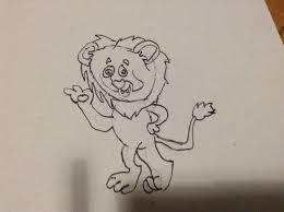 drawn lion draw pencil color drawn lion draw