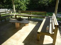 Decks With Benches Built In Built In Patio Benches 92 Furniture Photo On Patio Decks With