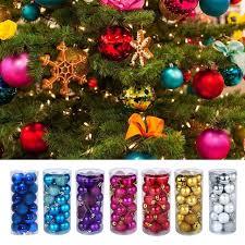 24pcs set glitter balls baubles tree hanging ornament