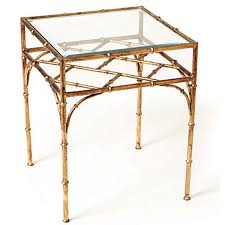 vintage gold side table faux bamboo square side table antique gold scenario home