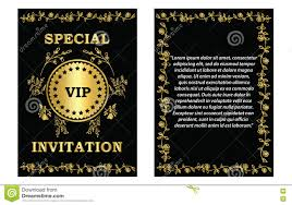 Business Invitation Card Format Vip Invitation Card Template Stock Vector Image 75085551