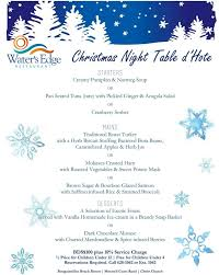christmas night table d u0027hote at water u0027s edge barbados events