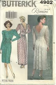 Butterick Halloween Costume Patterns Butterick 4902 Style Wedding Dress Gown Vintage Sewing Pattern