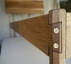 Bed Frame Joints Modern White Oak Bed Frame Handmade Solid Wood Bed Frame With