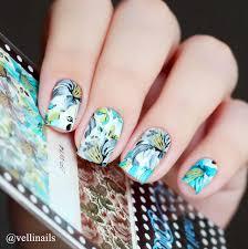 0 99 2 patterns sheet fantastic flower nail art water decals