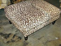 Animal Print Storage Ottoman Printed Storage Ottoman And Beige Snow Leopard Upholstered Ottoman