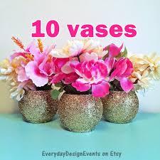 10 vases gold vase centerpieces wedding centerpiece wedding