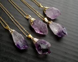 amethyst crystal necklace images Amethyst necklace etsy jpg