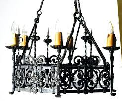 Gothic Chandelier Wrought Iron Cast Iron Chandelier Antique Antique French Wrought Iron