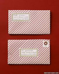 envelope fold holiday letter martha stewart