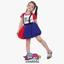 costume for harley quinn girl and blue dress costume for kids coskidz