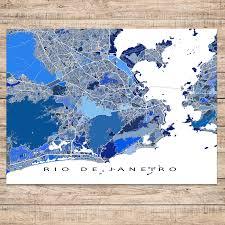 city map of brazil de janeiro map print brazil maps as