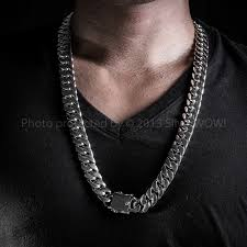 curb necklace images 15mm curb link mens heavy weight silver jpg