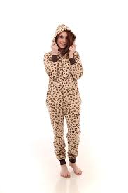 funzee leopard spot onesie non footed pajama