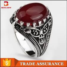 red stones rings images 2015 chunky wholesale silver jewelry ancient ring men 39 s ring with jpg