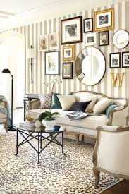 classic living room with ballard designs leopard white rug and