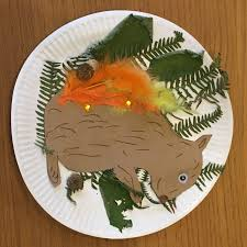 autumn leaves squirrel collage arts and crafts autumn crafts for