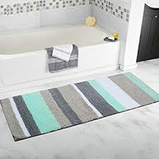 Bathroom Runner Rug Chardin Home Cordural Stripe Bath Runner Turquoise
