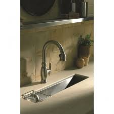 Kohler Trough Single Bowl Mm X Mm Brushed Steel Undermount - Brushed steel kitchen sinks