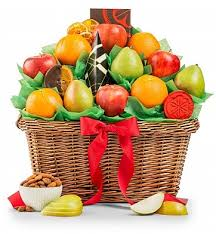gourmet fruit baskets five fruit gourmet gift basket