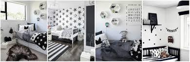 Black and White Kids Room Decor