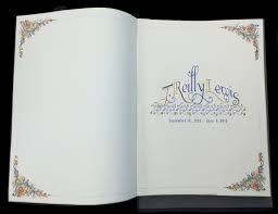 memorial service guest books book arts bookbinding services