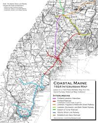 Map Maine Portland Lewiston Maine Interurbans