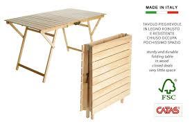 tavola pieghevole tavolo in legno ripiegabile a valigetta h8223