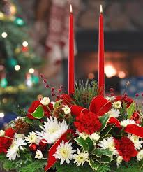 table decorations with candles and flowers christmas centerpieces festive table decoration ideas with flowers