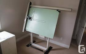 Drafting Table L Drafting Tables Vancouver Alvin Minimaster Adjustable Drafting