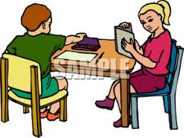 Picture Of Student Sitting At Desk Student Reading At Desk Clipart Clipartxtras