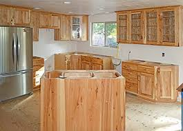 Rustic Hickory Kitchen Cabinets Hickory