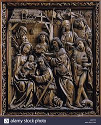 fine arts jesus christ birth carved altar with adoration of the
