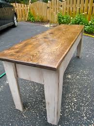 ana white modern farmhouse kitchen table with bench diy projects