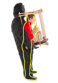 Bigfoot Halloween Costumes Man Gorilla Cage Costume