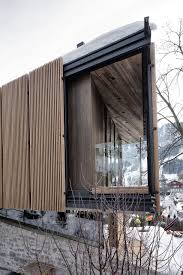 villa panoramic winter residence design with natural chilled