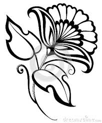 Flower Designs For Drawing Black And White Flower Drawing Clipart Panda Free Clipart Images