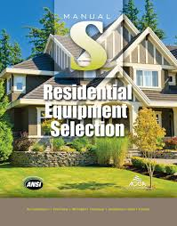 manual s residential equipment selection 2nd edition acca