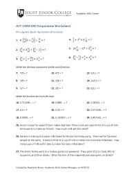 pre algebra fractions worksheets free worksheets library