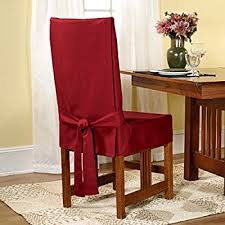 Sure Fit Stretch Pique Shorty Dining Room Chair Slipcover Amazon Com Sure Fit Cotton Duck Shorty Dining Room Chair Cover